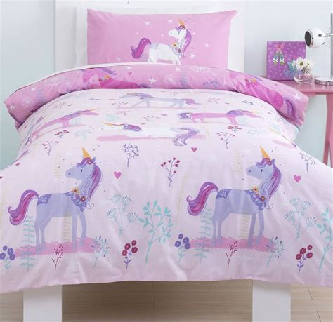 unicorn bedding for kids magical unicorn girls single bedding set from just kidding