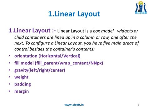 android linearlayout gravity margin padding itebooks android screen containers layouts