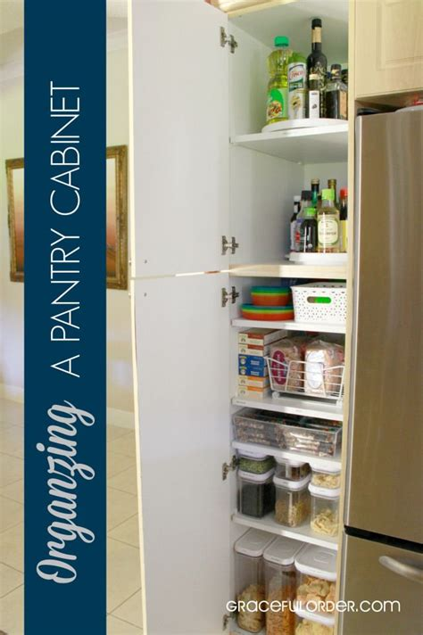 Pantry Cabinet Organization Ideas by How To Organize A Pantry Cabinet Great Ideas For
