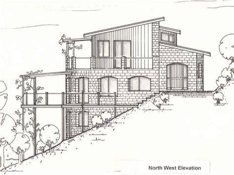 split level house section hill rd earth brick home lapp toft architecture