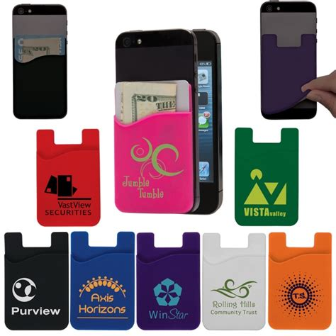 Cell Phone Holder Giveaways - personalized cell phone card holder usimprints