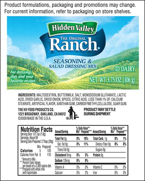 calories in light ranch salad dressing valley ranch dressing nutrition facts nutrition
