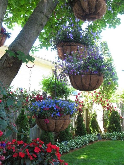 Hanging Flower Garden Backyard Gardens Hang Plants From Tree Branches It Gardening And Outdoor Decorating