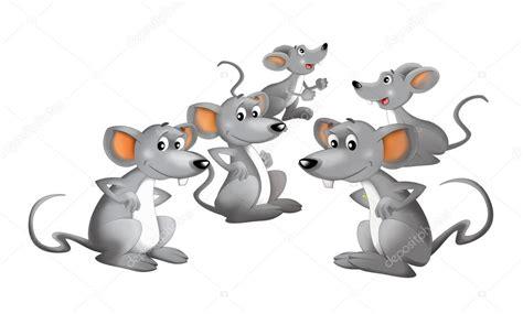 imagenes en movimiento de ratones grupo feliz de dibujos animados de ratones aislado
