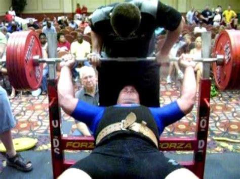 david boston bench press brandon bankston 671 bench press record youtube