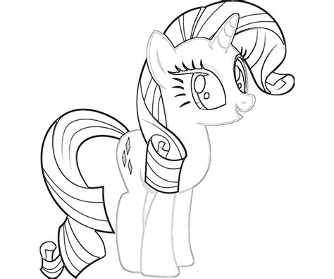 Rarity Mlp Coloring Pages Rarity Coloring Pages