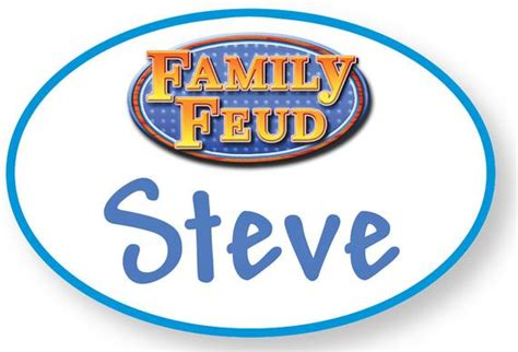 Family Feud Name Tag Template 1 Steve Harvey Family Feud Halloween Costume Prop Name Badge