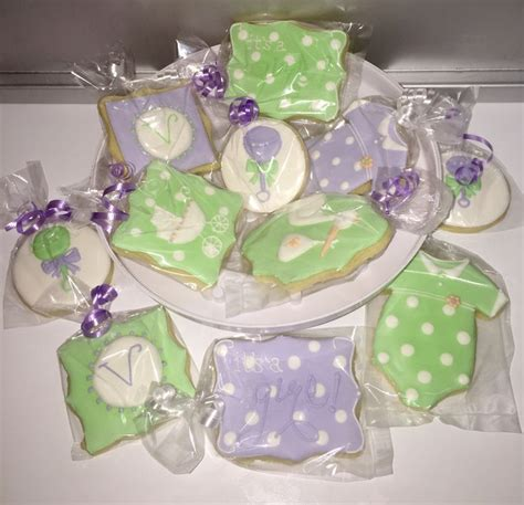 Lavender And Green Baby Shower baby shower cookies lavender mint green white www