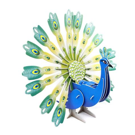 3d Puzzle Peacock newest diy 3d metal puzzle peacock model toys for children