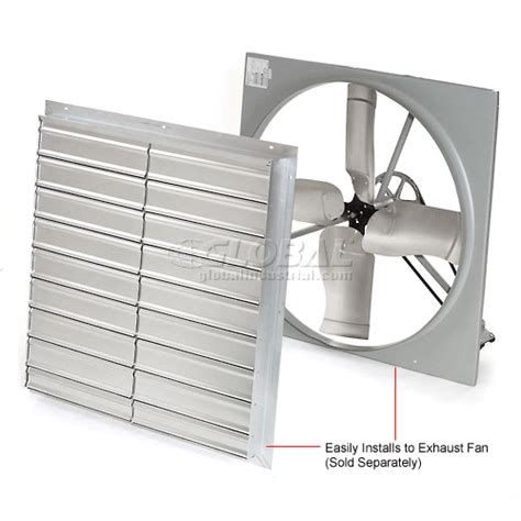 12 inch exhaust fan with louvers exhaust fans exhaust supply tpi shutter for 36