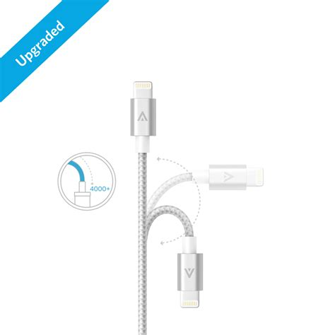 Original Anker A7136641 Braided Lightning Cable 0 9m 3ft Silver apple mfi certified anker bra end 5 5 2018 3 08 pm