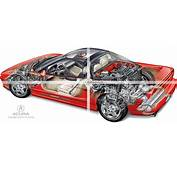 Ghosted Car Illustration Of Acura NSX
