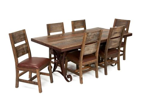 rustic dining table chairs rustic furniture solid wood