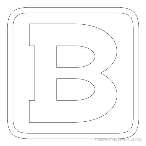 free printable letter stencils for bulletin boards printable block letter stencil b p a r e n t i n g