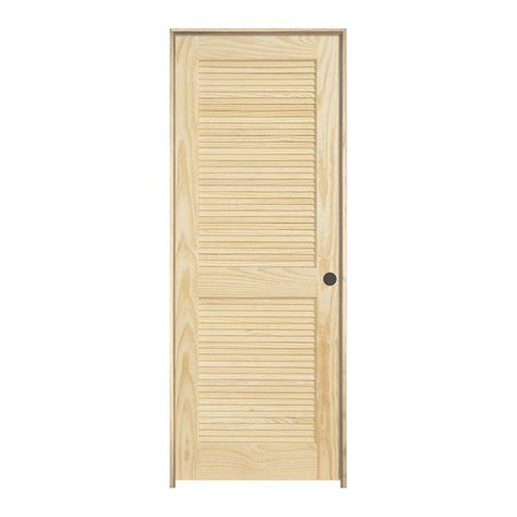 louvered interior doors home depot jeld wen 32 in x 80 in pine unfinished left hand 2 panel