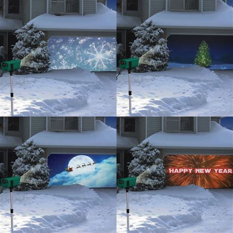 fancy animated holiday scenes projector