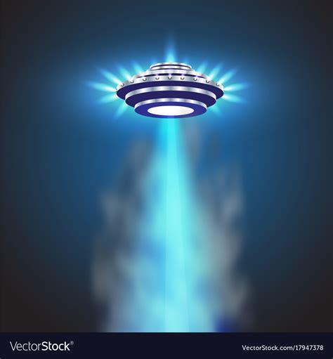 ufo background ufo light sky beams ufo spaceship royalty free vector