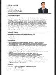 civil engineering cv resume template resumes design