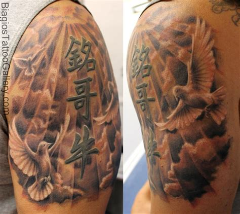 heavenly tattoos quot gates of heaven quot by by samuel molano tattoonow