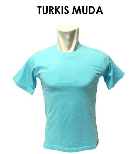 Turkis Muda warna dan ukuran kaos rumahsabloncepat
