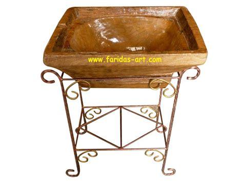 Sink Washtafel Kaki faridas jual ukiran kayu jati furniture relief wooden craft wastafel lumpang dengan