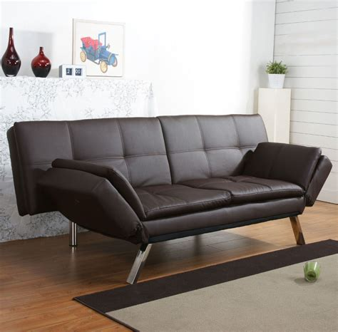 brown leather futon sofa bed brown leather futon sofa bed bm furnititure