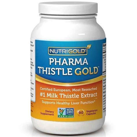 Gold Total Detox by Buy Nutrigold Pharma Gold Milk Thistle Extract Veg
