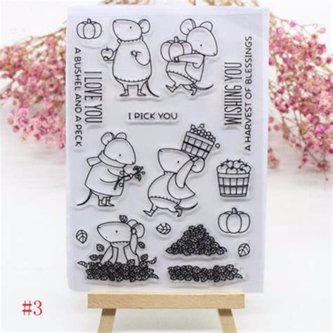 Diy Handcrafts - transparent silicone clear rubber sts scrapbooking card