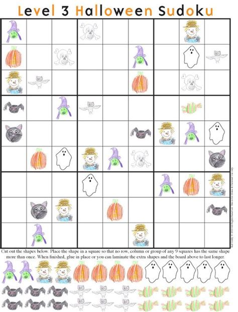 printable halloween sudoku halloween sudoku puzzles this is a great idea for those