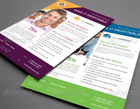 20 indesign flyer templates for business web graphic