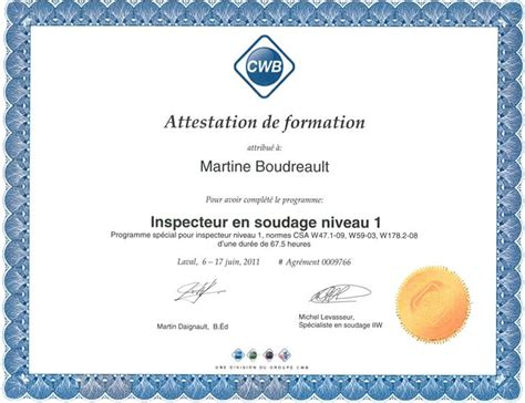 modele certificat formation document