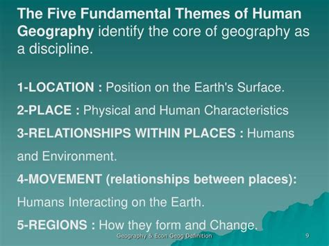 5 themes of definition ppt economic geography an introduction powerpoint