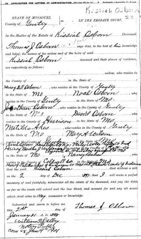 Missouri Probate Court Records Court Records Gentry Co Mo Usgenweb Archives