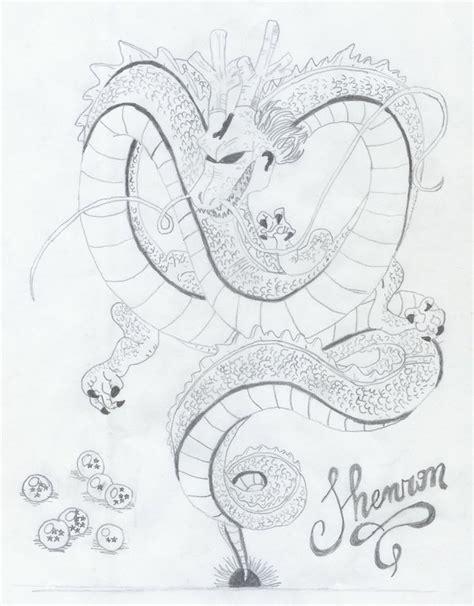 dragon ball z shenron coloring pages shenron for dragonball z by blackthunderdragon on deviantart