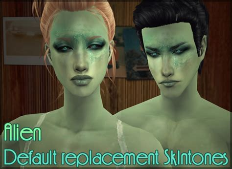 sims 3 default replacement skin default replacement skintone for alien