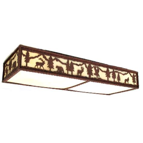copper fl270 lodge and cabin fluorescent ceiling light