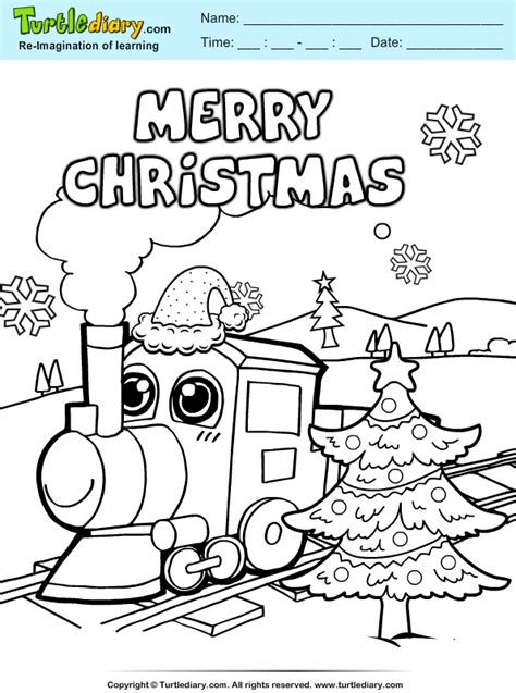 coloring pages christmas train christmas train coloring sheet turtle diary