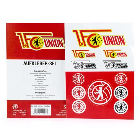 Aufkleber 1 Fc Union Berlin by Union Berlin Onlineshop Produkte
