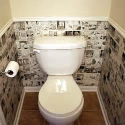 Home dzine bathrooms cartoon wallpaper for a guest toilet