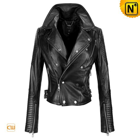 leather motorcycle jacket fashion black leather motorcycle jackets cw608102