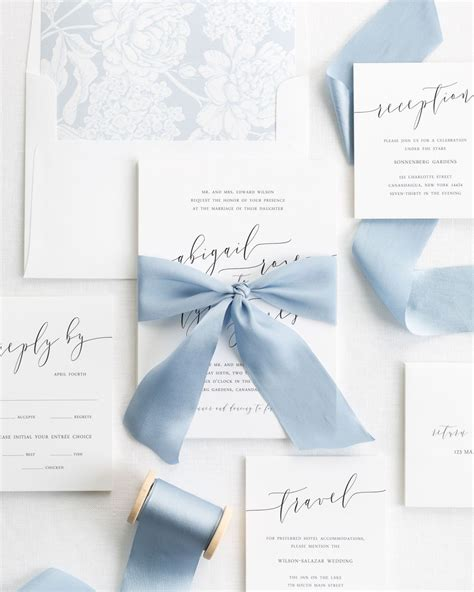 tying ribbon for wedding invitations calligraphy ribbon wedding invitations ribbon