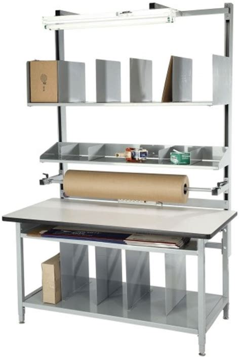 packing table with shelves industrial workbenches work tables packing tables for