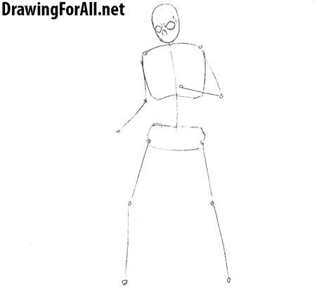 How To Draw A Skeleton Step By Step