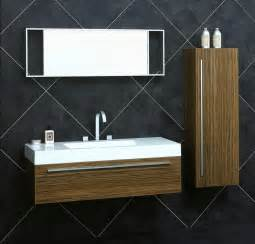 wall hung bathroom vanities cabinets 47 quot zebrawood wall hung vanity set including mirror bbd1200