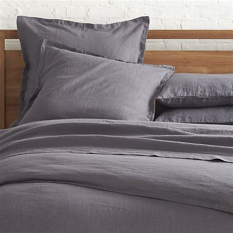 grey bed linens lino grey linen duvet covers and pillow shams