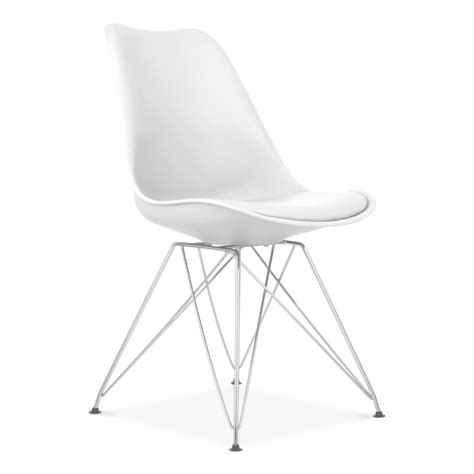 stuhl metallbeine eames inspired white dining chair with eiffel metal legs