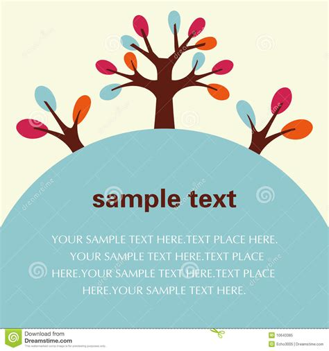 Vector Tree Flyer Poster Template Royalty Free Stock Photo Image 10643385 Tree Poster Template