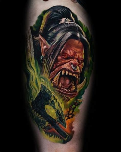 wow tattoos 70 world of warcraft designs for