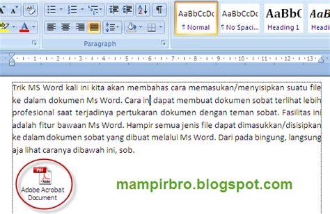 menu untuk mengatur layout dokumen adalah menyisipkan file ke dalam dokumen ms word xx mirbro xx