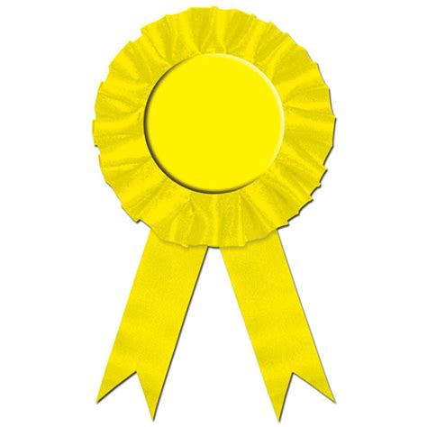 yellow rosette award ribbon partycheap